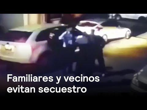 Familiares y vecinos evitan secuestro en Monterrey - Las Noticias con Danielle