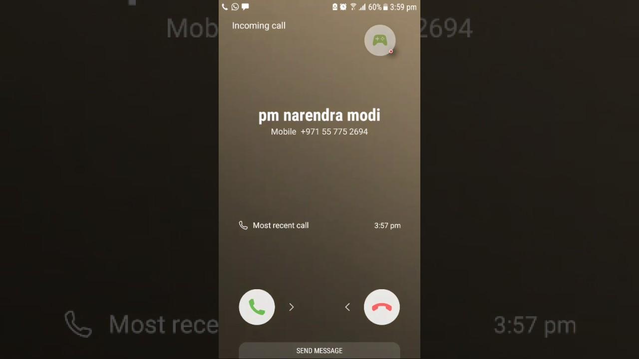 Pm narendra modi calls funny prank