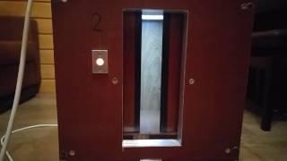 Макет лифта в процессе