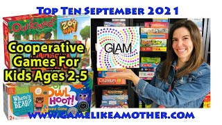 Game Like a Mother Top Ten September 2021: Cooperative Games for Little Kids