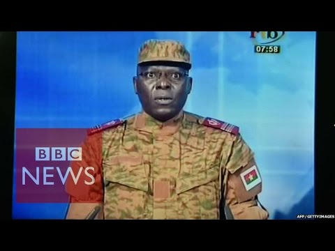 Heavy shooting after Burkina Faso 'coup' - BBC News