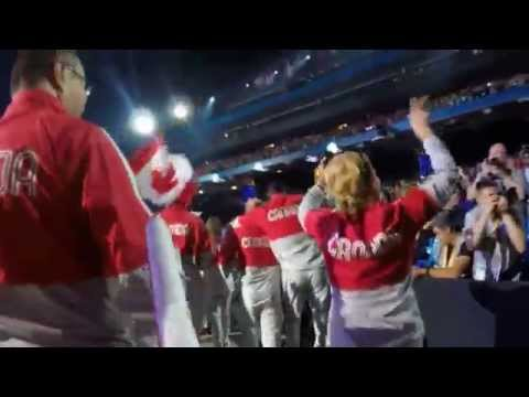 Team Canada walking in at 2015 Pan Am Games