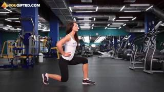 Фитнес. Тренировка ягодиц. Выпады.(Выпады - одно из лучших упражнений на ягодицы. Возможно, вы даже не подозревали, что существует несколько..., 2011-09-09T06:12:31.000Z)