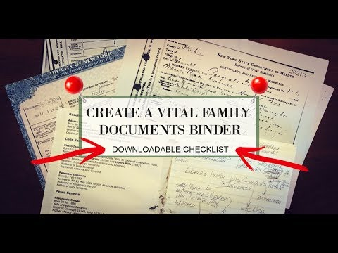 How to make a Vital Family Documents Binder and Why