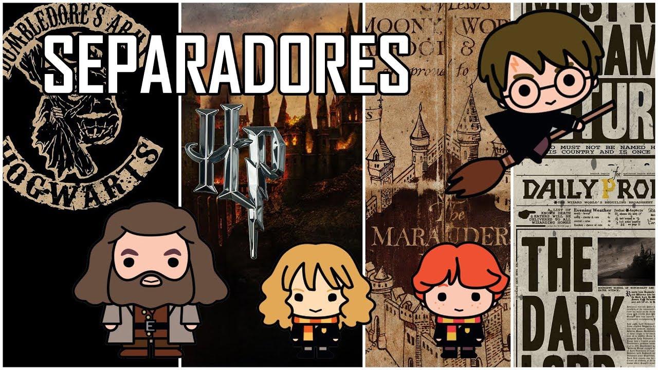 Como Hacer Separadores De Libros De Harry Potter Hecho En Casa