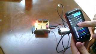 Arduino ADK = Arduino Mega 2560 + USB Host Shield + S4A Sensor Board + Android Mobile