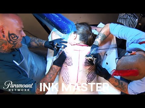 'Two Artists, Two Wings, One Back' Elimination Tattoo Preview | Ink Master: Season 7