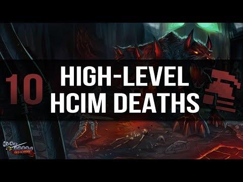 10 of the Highest Leveled HCIM Deaths in OSRS
