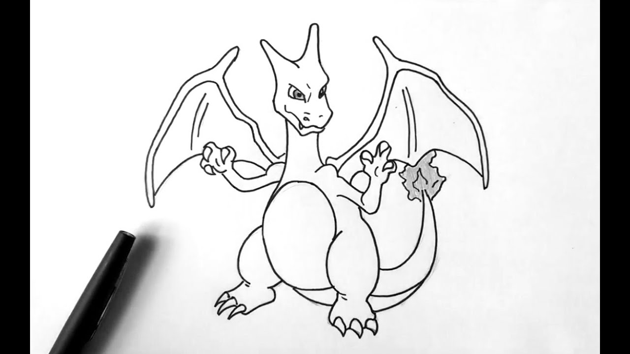 Comment Dessiner Dracaufeu Pokemon Youtube