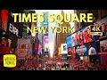 New York Times Square   New York City Travel   Broadway Midtown Manhattan   4K Walking Tour