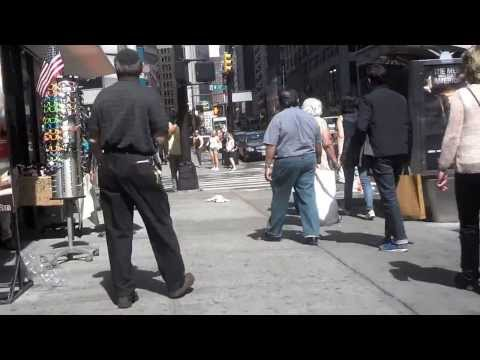 Woman Goes Crazy In NYC
