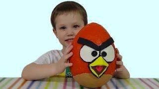 Энгри Бердс огромное яйцо с сюрпризом открываем игрушки Giant surprise egg ANGRY BIRDS toys