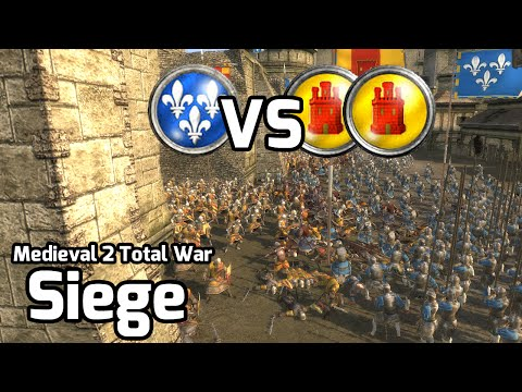 Medieval 2 Total War Online Battle #184 (2v1 Siege) - Spanish inquisition