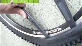 как заменить резину на велосипеде своими руками