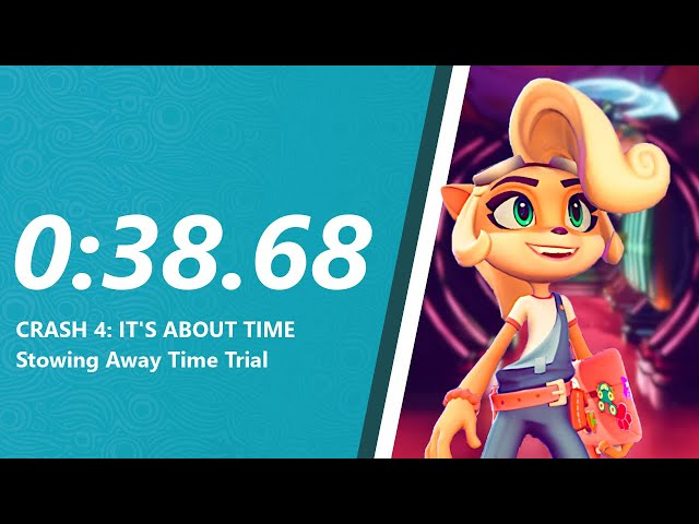Crash 4 - Stowing Away Time Trial in 0:38.68