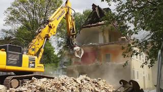 Abbruch von Mehrfamilienhäusern in Hattingen