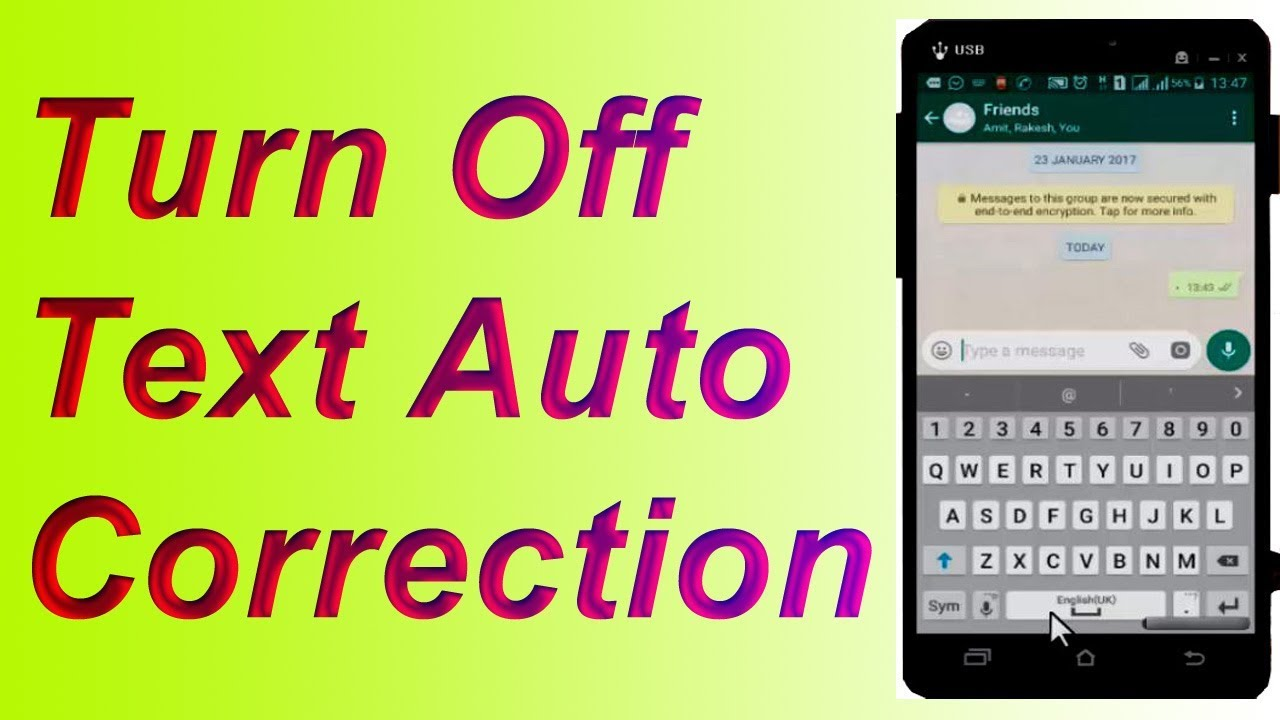 how to change autocorrect on samsung