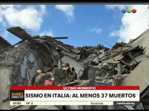 Sismo, muerte y terror en Italia – Telefe Noticias