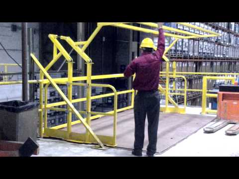 Mezzanine Safety Gate Demonstration 2