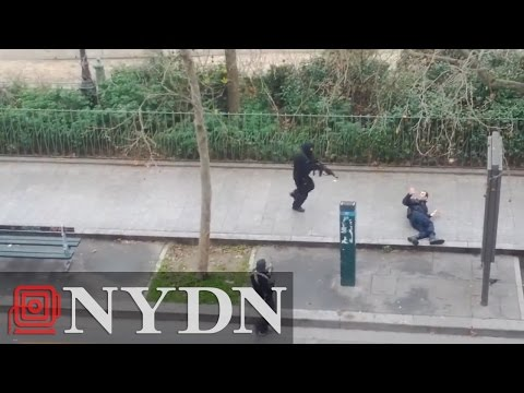 Deadly Charlie Hebdo attack caught in video