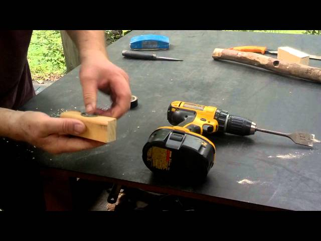 Making A Frictionless Bow Drill Bearing Block For Under $5