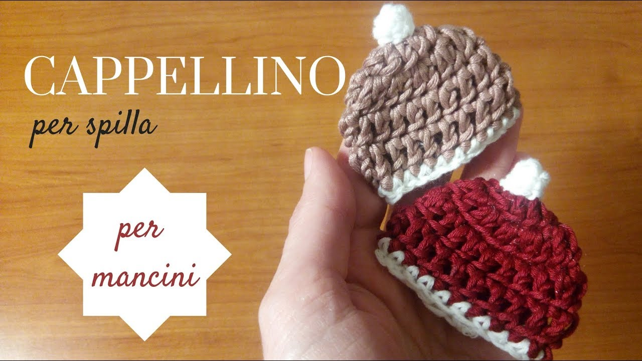 Come Fare Una Spilla Cappellino In Miniatura Tutorial Uncinetto