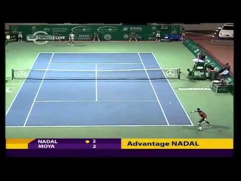 Nadal vs Moya 2008 Chennai Open SF Part 1