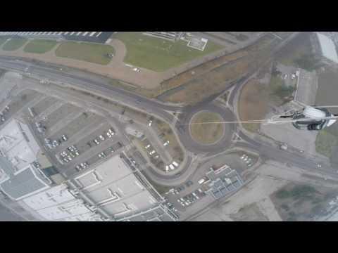 Ripresa aerea sul traffico di corso Asti ad Alba