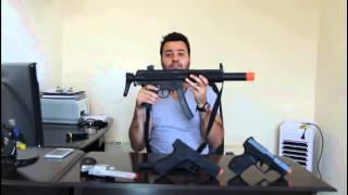 Airsoft Varginha/MG - Pistola Glock 18 - elétrica - Fuzil HK MP5 SD6 da Umarex