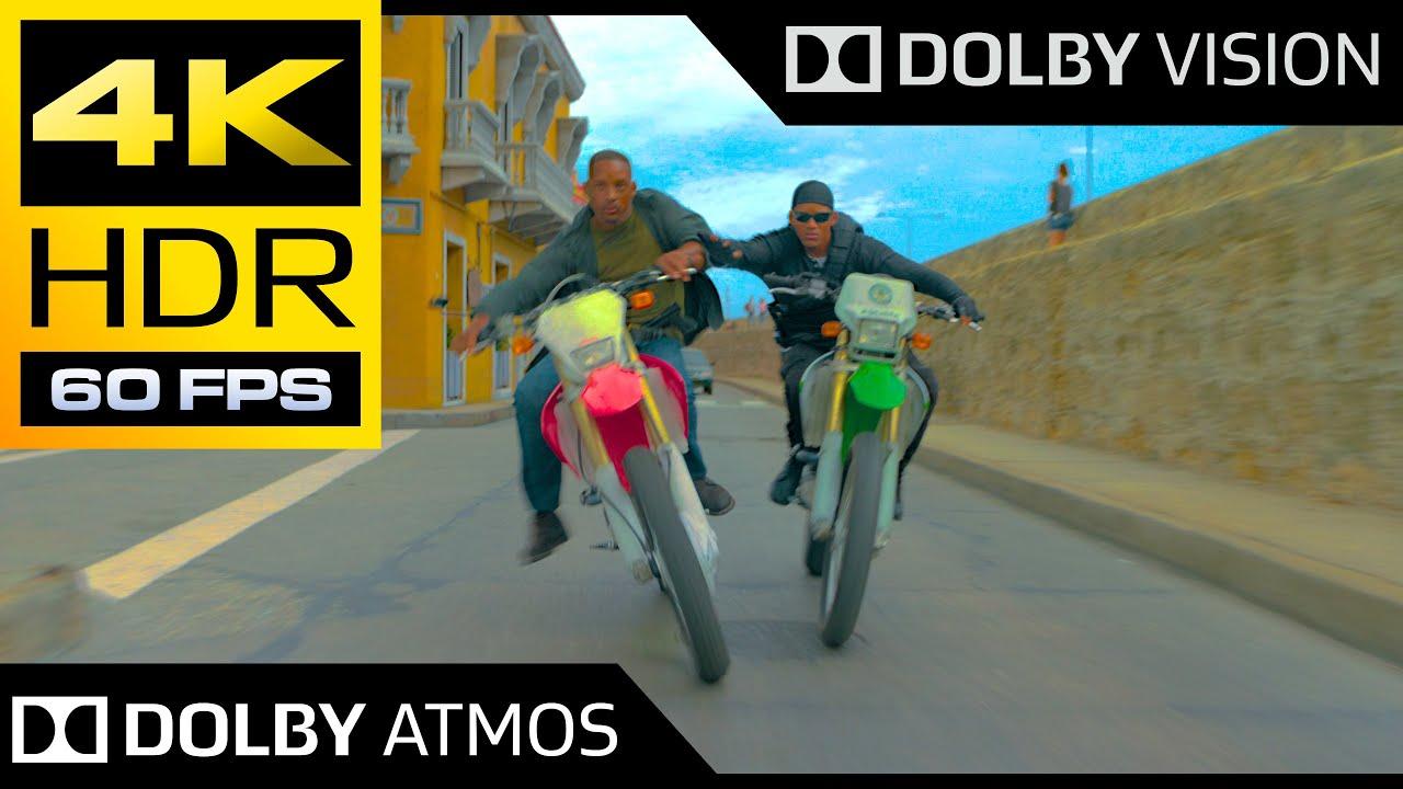 Download 4K HDR 60FPS ● Bike Chase Scene (Gemini Man) ● Dolby Vision ● Dolby Atmos