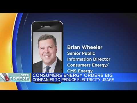 Consumers Energy orders big companies to reduce electricity usage