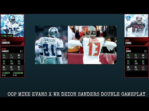 WE PULLED LIMITED EDITION MIKE EVANS!! S MIKE EVANS X WR DEION SANDERS GAMEPLAY!! MADDEN MOBILE 17