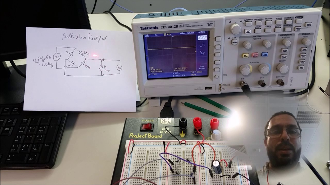 Experiment 3 Full Wave Bridge rectifier for AC to DC
