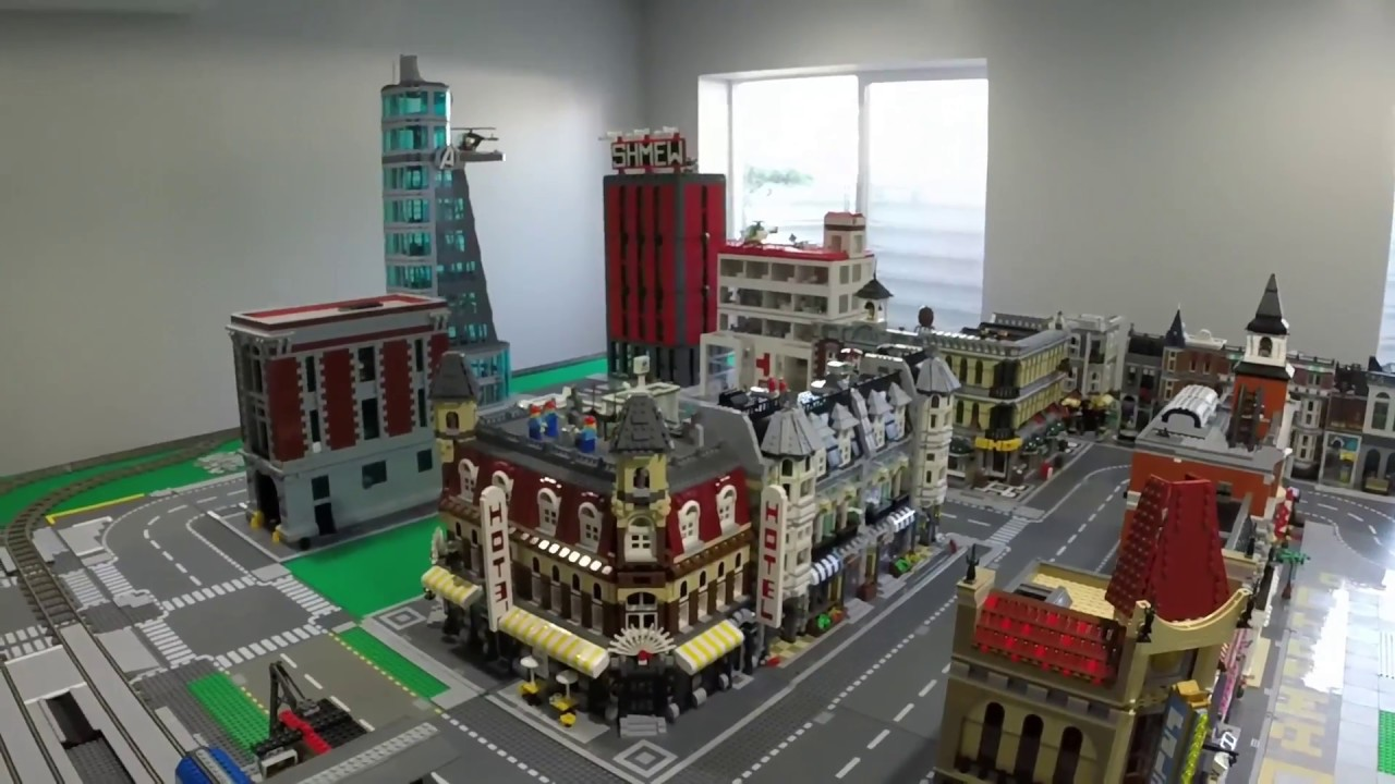 Creating A Lego City Part 4 Down Town Train Layout Youtube