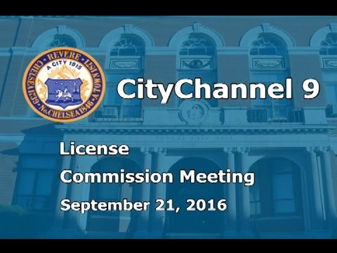 (09/21/16) License Commission Meeting