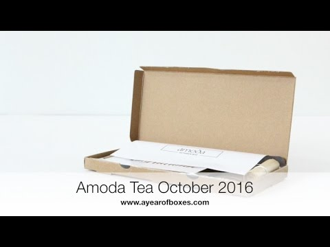 Amoda Tea Subscription Box Unboxing October 2016