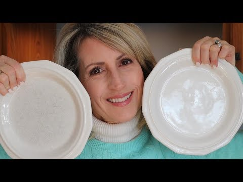 REMOVE SCRATCH MARKS FROM WHITE DISHES!