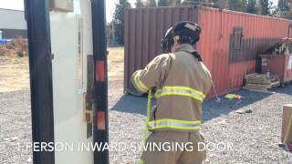 Forcible Entry Training: Inward Swinging Door (1 Person)
