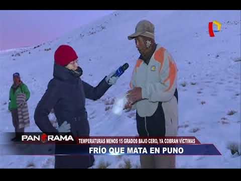 Frío que mata en Puno: temperaturas menos 15 grados, ya cobran vidas