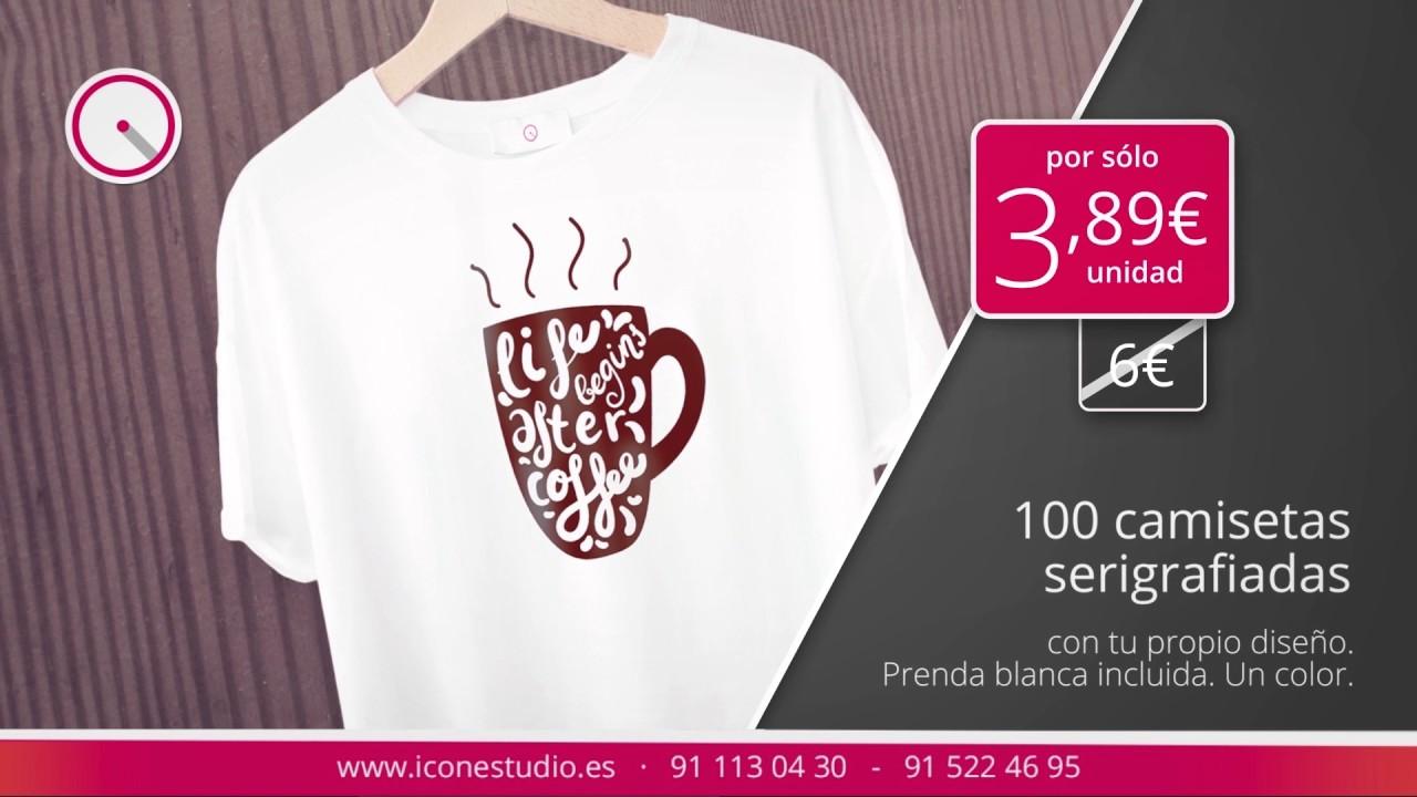 2e86c627cc333 Serigrafía de camisetas baratas en Madrid - YouTube