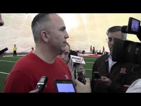 Kyle Flood Interview Rutgers Head Coach Interview At NFL Pro Day