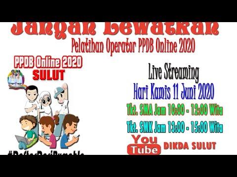 Pelatihan Operator PPDB Online SMA Tahun 2020 Kamis 11 Juni 2020