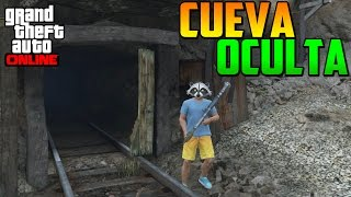 CUEVA OCULTA! LA MINA MISTERIOSA!! -  MISTERIOS GTA 5 PS4 - EASTER EGG GTA V PS4