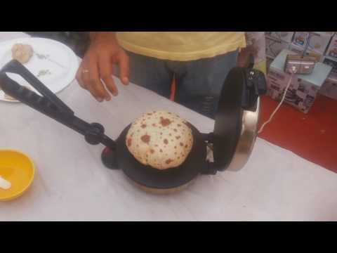 Roti maker demo in English.