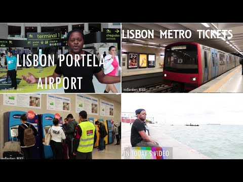 LISBON : the cheapest way to travel from the Airport to the city center + how to buy a metro ticket
