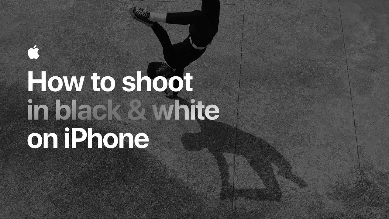How to shoot in black white on iphone apple