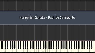 Hungarian Sonata - (Richard Clayderman) Paul de Senneville (Piano Tutorial)