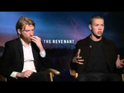 """The Revenant: Domnhall Gleeson """"Andrew Henry"""" & Will Poulter """"JIm Bridger"""" Exclusive Interview"""