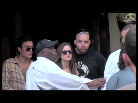 Ed Westwick, Leighton Meester and Blake Lively BTS Gossip Girl Paris HD