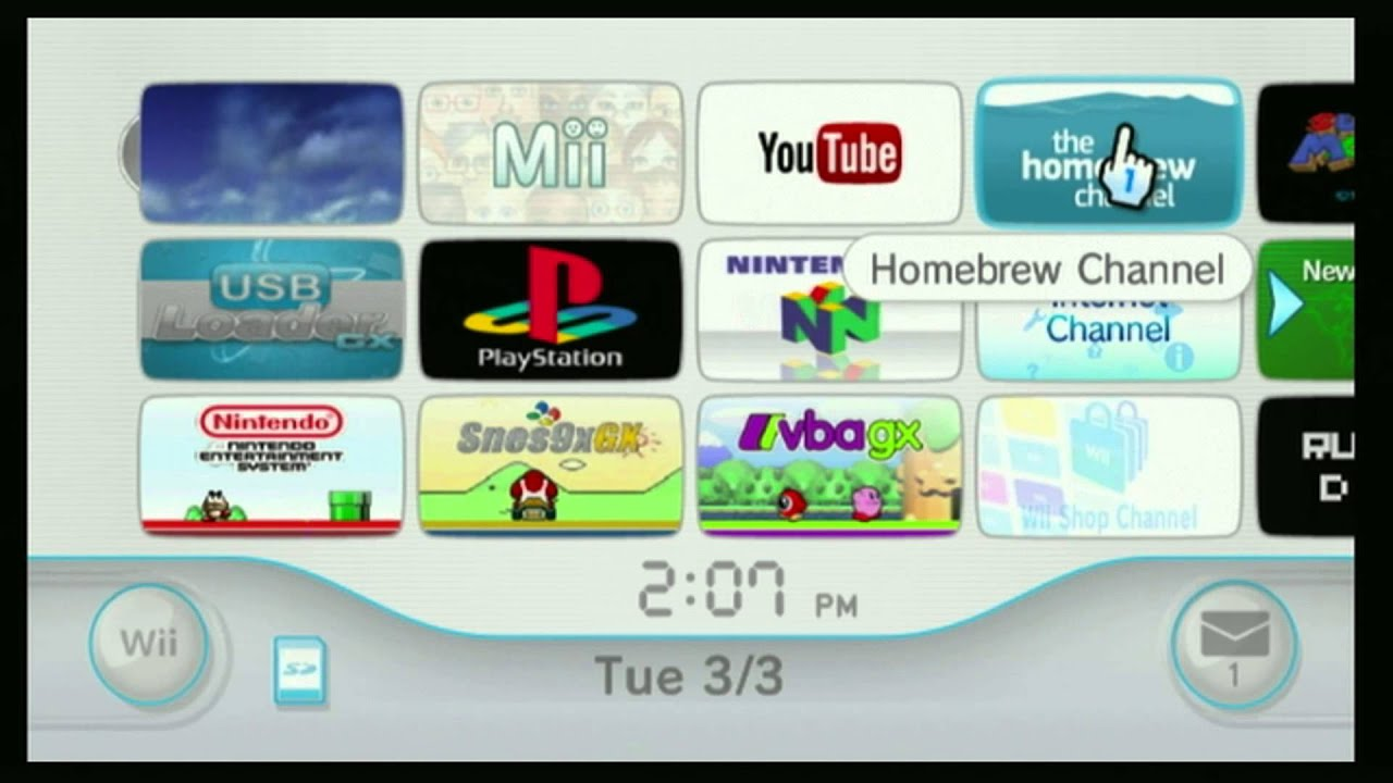 Updating wii with homebrew channel install